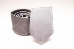 Prémium selyem nyakkendő - Ezüst aprópöttyös Selyem nyakkendők