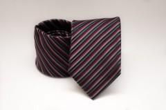 Prémium nyakkendő -  Bordó-grafit csíkos
