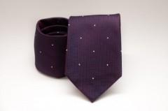 Prémium nyakkendő -  Padlizsán pöttyös Aprómintás nyakkendők