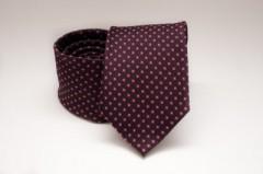 Prémium nyakkendő -  Bordó pöttyös Aprómintás nyakkendők
