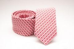 Prémium slim nyakkendő -   Rózsaszín mintás Kockás nyakkendők