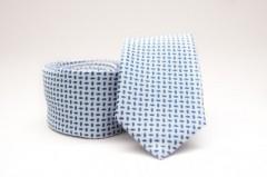 Prémium slim nyakkendő -   Világoskék mintás