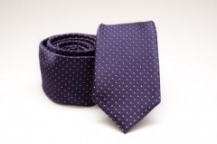 Prémium slim nyakkendő - Lila aprópöttyös