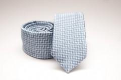Prémium slim nyakkendő - Világoskék mintás Kockás nyakkendők