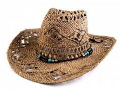 Cowboy szalma kalap - Barna