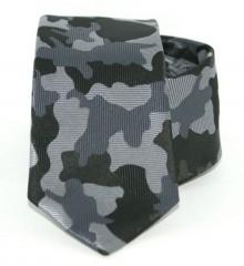 Goldenland slim nyakkendő - Szürke terepmintás Mintás nyakkendők