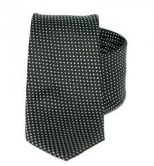 Goldenland slim nyakkendő - Fekete-fehér pöttyös