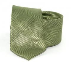 Goldenland slim nyakkendő - Kekizöld kockás