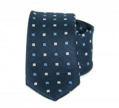 Goldenland slim nyakkendő - Sötétkék kiskockás