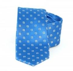 Goldenland slim nyakkendő - Tengerkék mintás