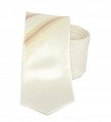 Goldenland slim nyakkendő - Ecru mintás