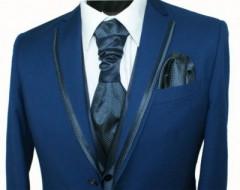 Alkalmi öltöny szett 6 részes - Kék-pöttyös