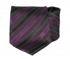 Goldenland nyakkendő - Lila-fekete csíkos